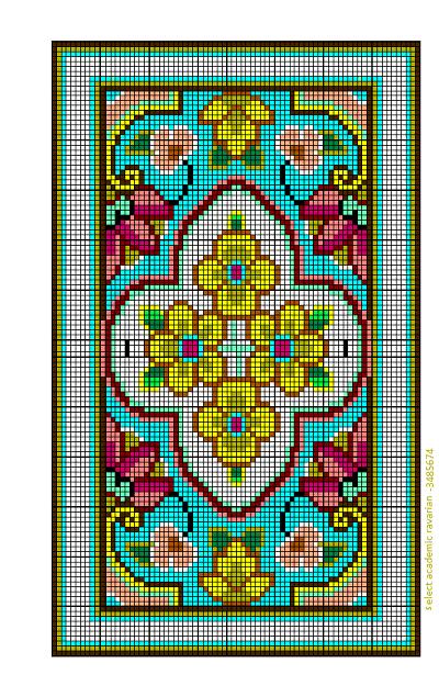 نقشه گلیم سنتی نقشه سنتی 303-8   قالی وبسته خدمات فرش نقشان