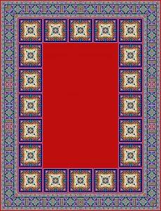 نقشه قالی