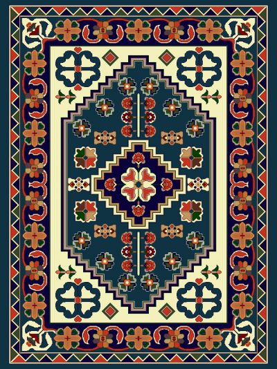 نقشه سنتی قالیچه